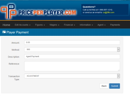 Introduction to the Player Payment Page